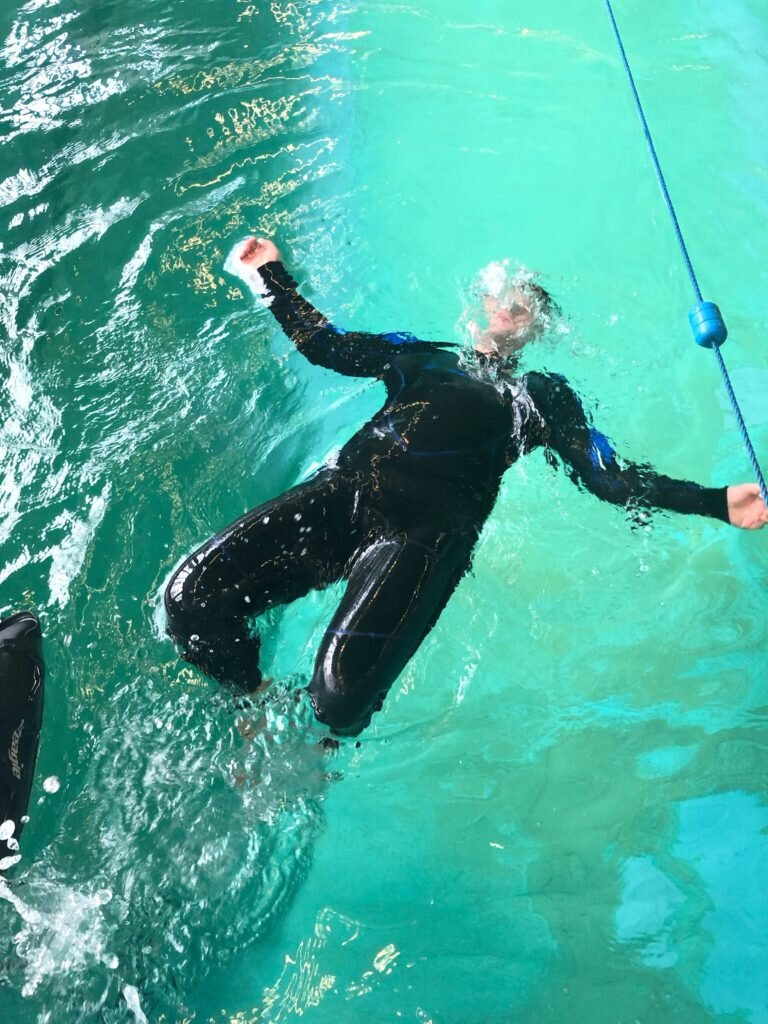 Nurek w basenie Szkoła nurkowania Zyfia